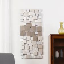 >silver wall accents you ll love wayfair contemporary geometric wall d cor