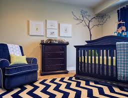 Zigzag Nursery Area Rugs Baby Room Carpet Themes Black And White Sofa  Drawer Wooden Chevron