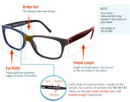 Sunglasses Frame Size Chart Frame Size Guide