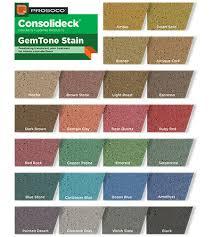 Prosoco Gemtone Color Chart Concrete Floor Stenciling Custom Concrete Prep And Polish