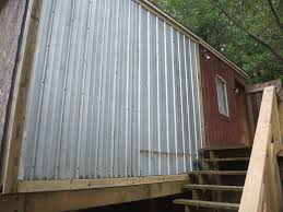 appealing corrugated metal siding house viewing gallery with staircase for exteriors ideas