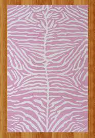 cool pink zebra rug