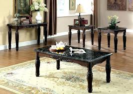 faux marble living room table set bay s furniture 3 piece dark walnut kitchen marvelous w