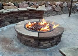 stone fire pit kit outdoor propane gas