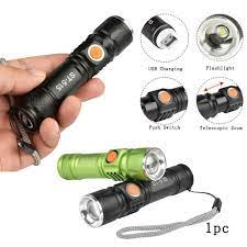 Đèn pin bỏ túi siêu sáng 8000Lm T6 LED 3 chế độ