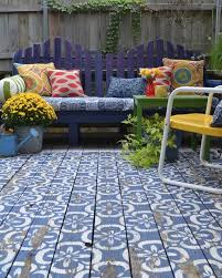 view in gallery wood patio painted in blue and white moroccan wood patio painted in blue and white moroccan