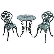 white cast iron patio furniture. Outsunny 3-Piece Outdoor Cast Iron Patio Furniture Antique Style Bistro Dining Chair And Table White