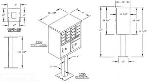 mailbox dimensions. Salsbury 8-Door CBU Mailbox Dimensions