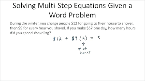 two step algebra equations word problems worksheet grade activities one algebraic w