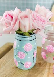 Painted Mason Jars Painted Rose Mason Jars It All Started With Paint