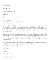 commendation letter sample appreciation letter for good work done as sample employee