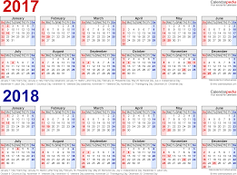 year calender 2017 2018 calendar free printable two year pdf calendars