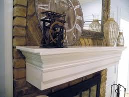 image of diy faux fireplace mantel