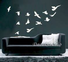 this flying birds decal set contains