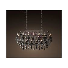 rh 19th c rococo iron crystal rectangular chandelier loading zoom