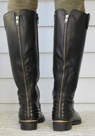 Howdy Slim! Riding Boots for Thin Calves: Steve Madden Arries & As befits a moto-ish style, there's plenty of zipper here. The  subtle-looking inside full zip (see second big photo above) makes the  Arries a snap to get on ... Adamdwight.com