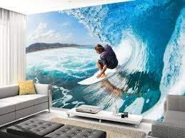 surf wall murals surf room vintage