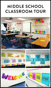 Great ideas and inspiration in this middle school classroom reveal - from