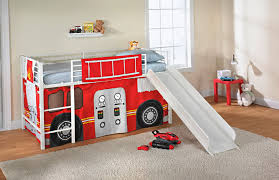 fire truck bunk bed with slide home design ideas fire truck loft bed with slide