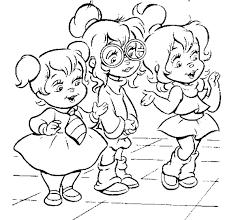 Kids N Fun Kleurplaat Alvin En De Chipmunks Alvin En De Chipmunks