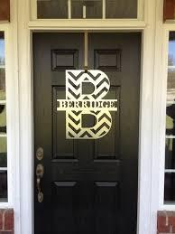 front door wreath hangerCHEVRON Monogram Front Door Wreath Monogram Door Wreath