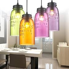 colored glass lamp shades modern glass pendant light fixtures color wine shade lamp bar restaurant living