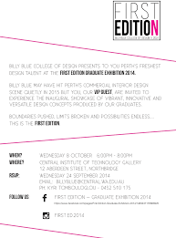 Billy Blue College Of Design Perth About Us First Edition Graduate Exhibition