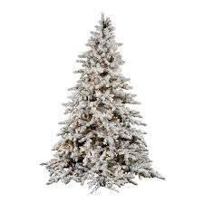 Sterling 9 Ft PreLit Heavy Flocked White Spruce Artificial Artificial Christmas Tree 9ft