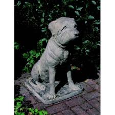 mastiff dog garden statue