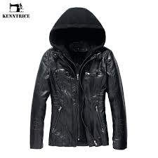 black leather hoo jacket women hooded front pocket slim fit las jackets in suede from clothing