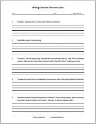 reconstruction essay questions worksheet for u s history