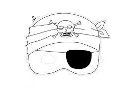 Maschere Di Carnevale Per Bambini Il Pirata Disegni Da Colorare