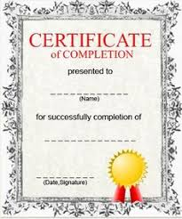 Templates For Certificates Of Completion 23 Best Certificate Of Completion Images Certificate Of Completion