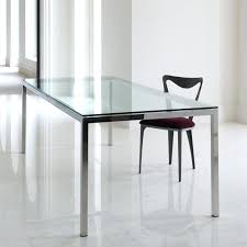 rectangle glass table sleek and sculptural top