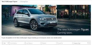 new car launches this year2017 Volkswagen Tiguan micro site goes live ahead of official