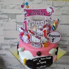 Birthday Cake Lukis Hello Kitty Medium Size Haltyfood