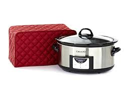 we highly recommend using our polyester line of our covermates slow cooker covers because the polyester material provides an easy to wipe surface and nice