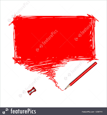 Word Bubble Templates Templates Red Pencil Scribble With Word Bubble Stock