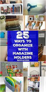 Repurpose Magazine Holder Simple 32 Brilliant Home Organization Ideas With Magazine Racks And File