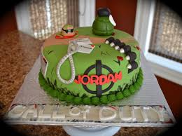 Call Duty Cake Similar To A Design I Saw line Not Sure Who