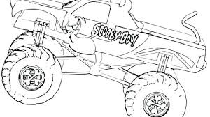Inspirational Design Monster Truck Coloring Pages To Print Ingenious