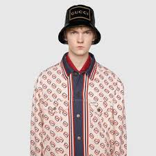Gucci Bucket Hat Size Chart Bucket Hat With Gucci Frame Print
