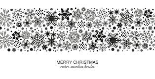 black and white snowflake border. Brilliant Border Monochrome Seamless Snowflake Border Isolated On White Background  Christmas Design For Postcard Or Greeting Card Vector Illustration Merry Xmas Snow  In Black And White Snowflake Border W