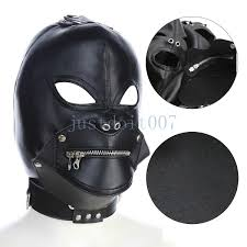 leather mask hood zipper mouth gag full gimp open eyes lockable slave r78 pictures free from zgmtai 19 28 dhgate com