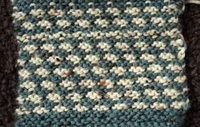 Houndstooth Knitting Pattern Chart Easy Two Color Knitted Mock Houndstooth Pattern