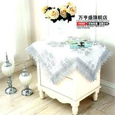 small tablecloth bedside table cloth side soluble washing machine cover towel round patio s