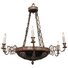 18th century italian neoclassical patinated bronze chandelier