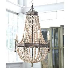 creative co op chandelier scalloped wood bead creative co op wood chandelier