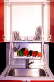 Dish Rack For Kitchen Cabinet Hide Your Dishrack In The Cabinet With The Drip Dry Living In A