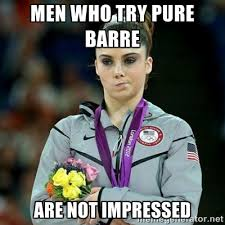 Men who try pure barre Are not impressed - McKayla Maroney Not ... via Relatably.com
